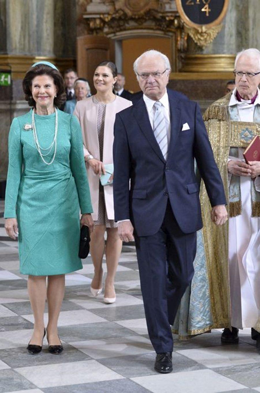 La reine Silvia de Suède, le 18 juin 2015