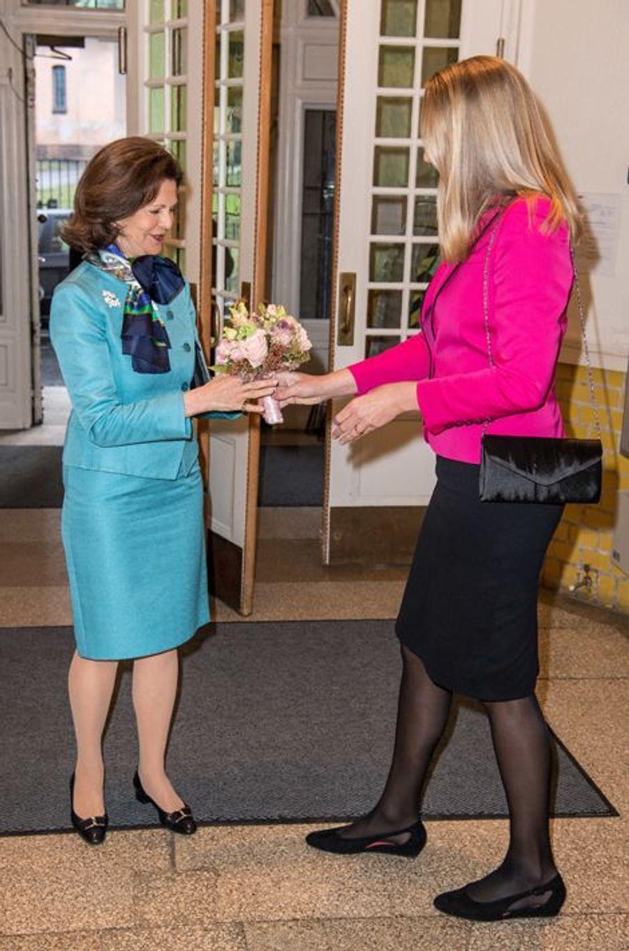 La reine Silvia de Suède, le 7 avril 2016