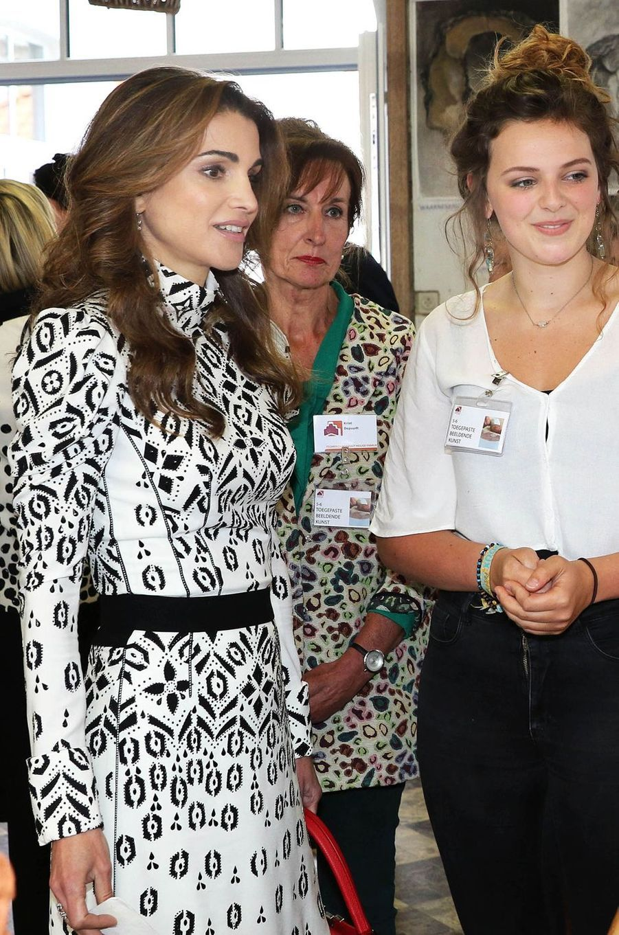 La reine Rania de Jordanie à Bruges, le 19 mai 2016