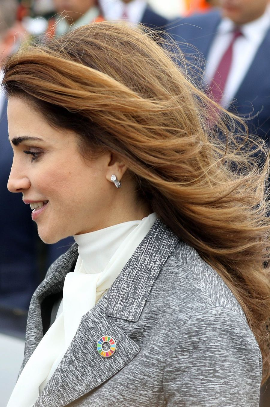La reine Rania de Jordanie à Bruxelles, le 17 mai 2016