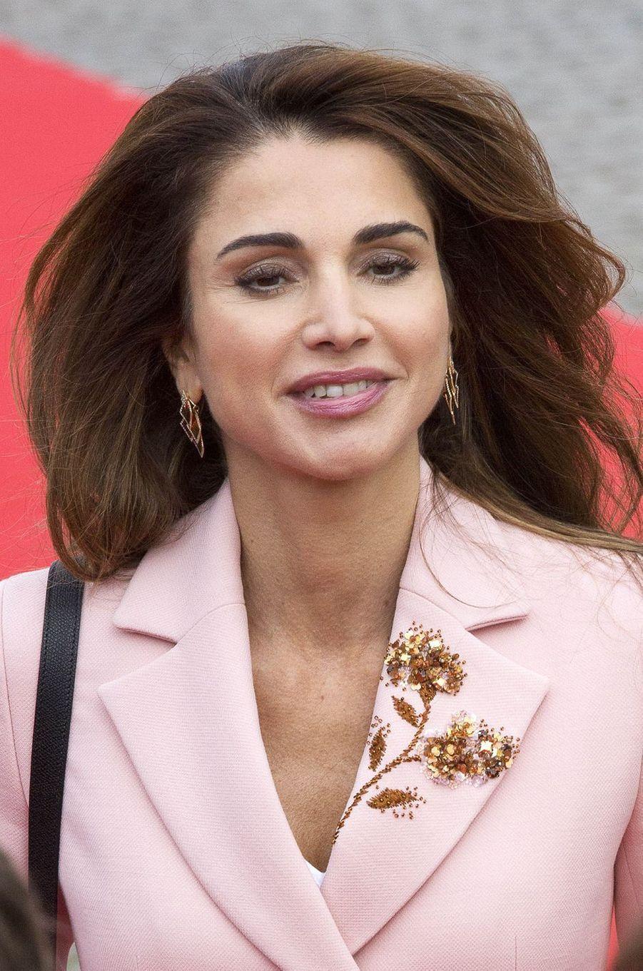 La reine Rania de Jordanie à Bruxelles, le 18 mai 2016