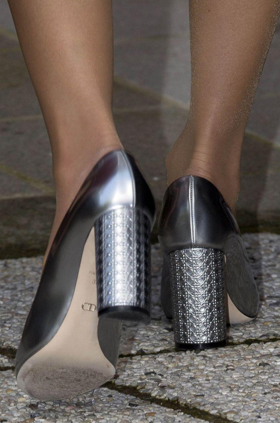 Les souliers de la reine Rania de Jordanie à Bruges, le 19 mai 2016