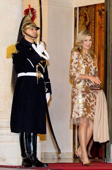 La reine Maxima des Pays-Bas en Natan, le 10 mars 2016