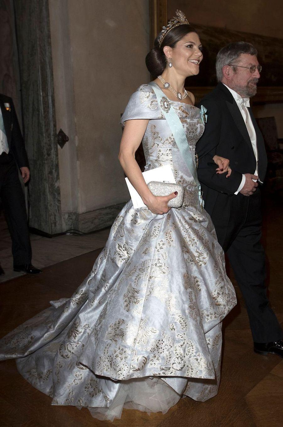 La princesse Victoria de Suède en H & M, le 10 décembre 2016