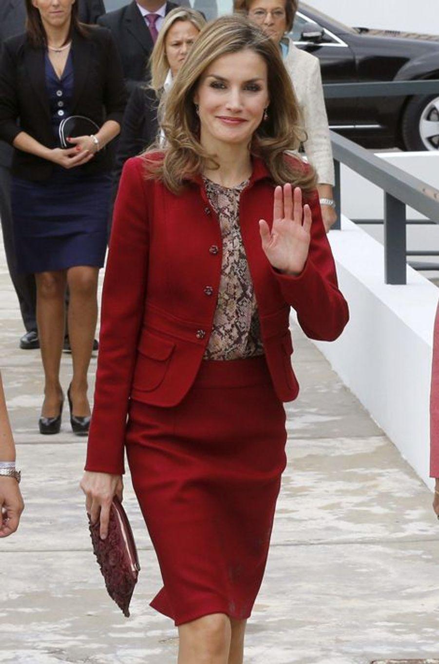 La reine Letizia d'Espagne, le 7 novembre 2014