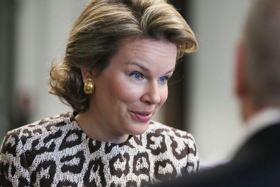La reine Mathilde de Belgique, le 26 février 2015