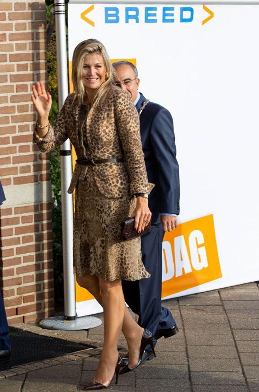 La reine Maxima des Pays-Bas, le 7 octobre 2014
