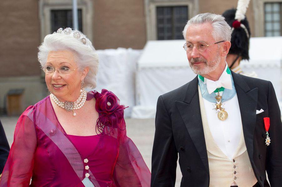La princesse Christina de Suède, avec son mari Tord Magnuson, à Stockholm le 13 juin 2015
