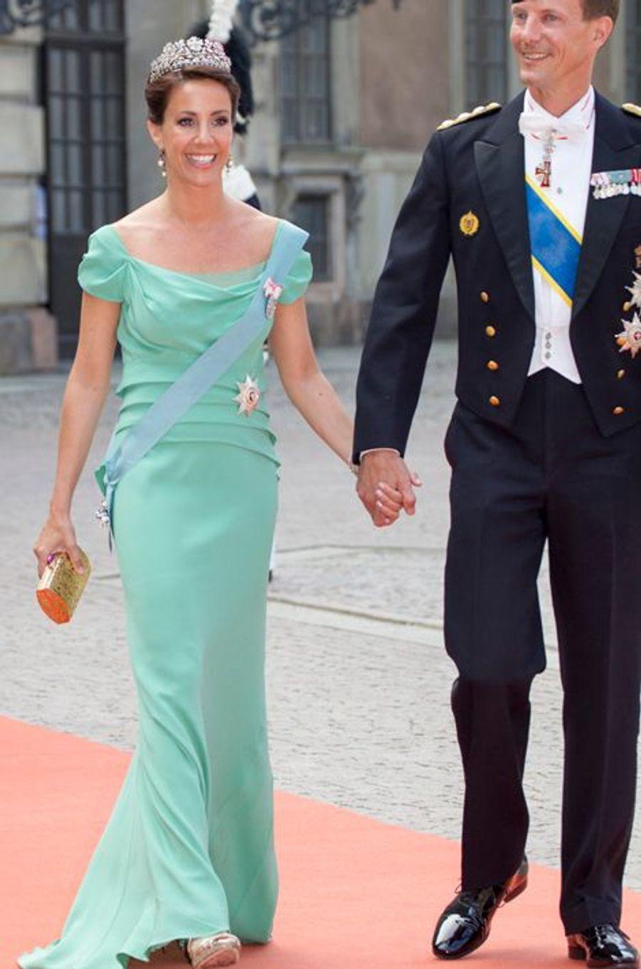 La princesse Marie de Danemark, avec son mari le prince Joachim, à Stockholm le 13 juin 2015