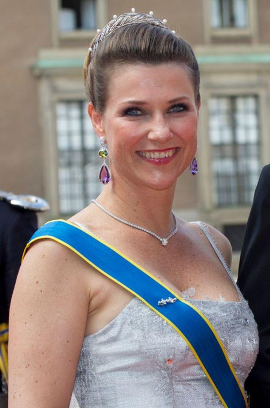 La princesse Martha-Louise de Norvège à Stockholm, le 13 juin 2015