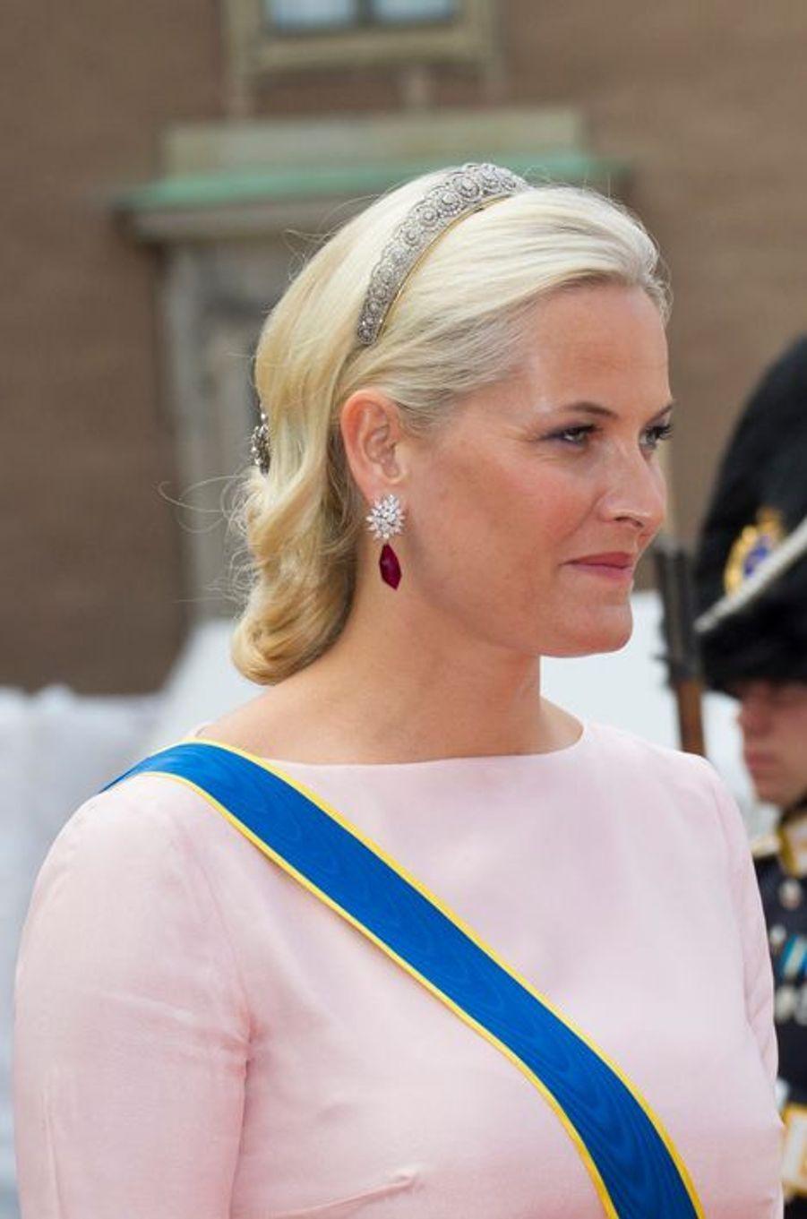 La princesse Mette-Marit de Norvège à Stockholm, le 13 juin 2015