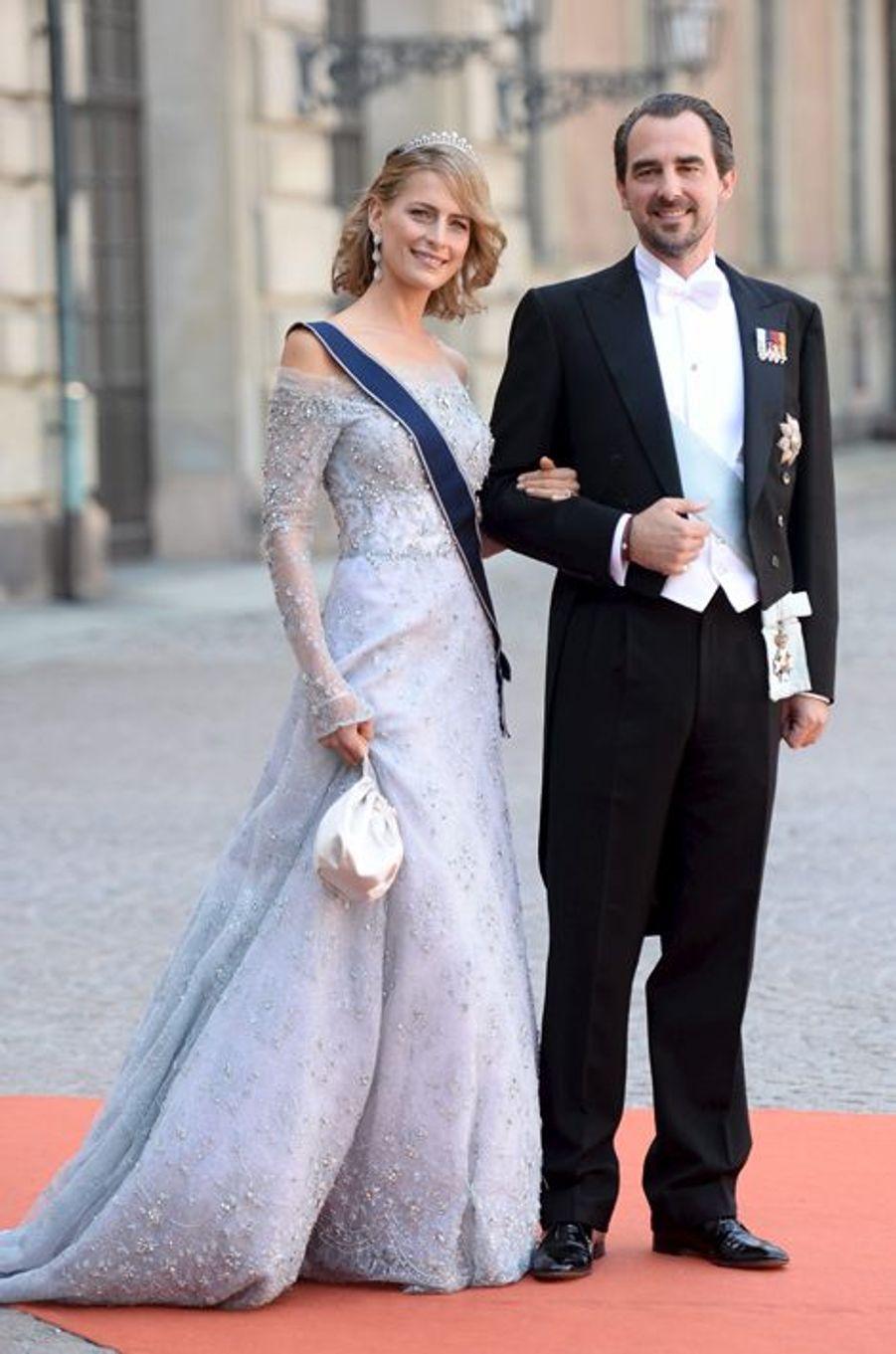 La princesse Tatiana et le prince Nikolaos de Grèce à Stockholm, le 13 juin 2015