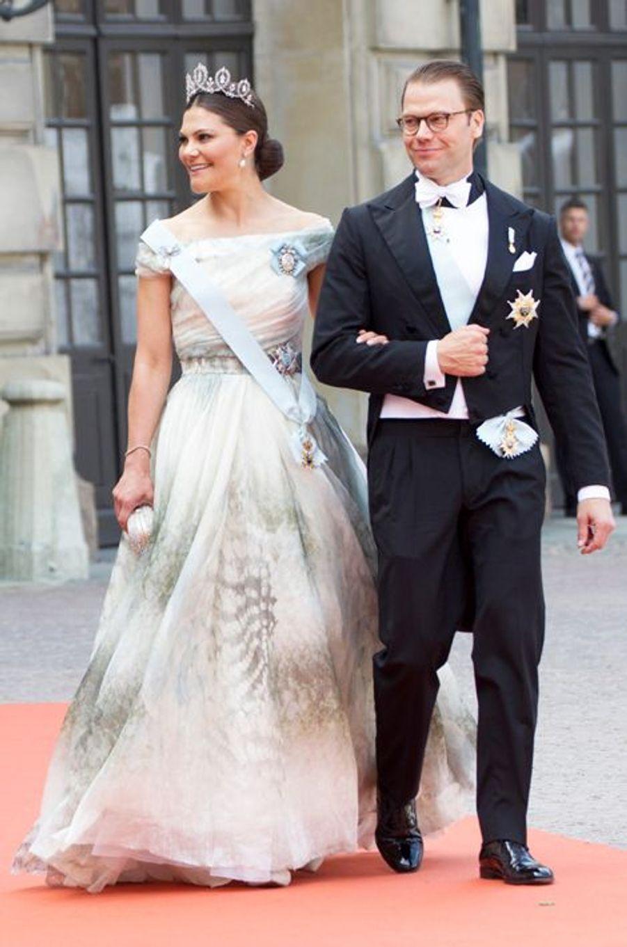 La princesse Victoria de Suède, avec le prince Daniel, à Stockholm le 13 juin 2015
