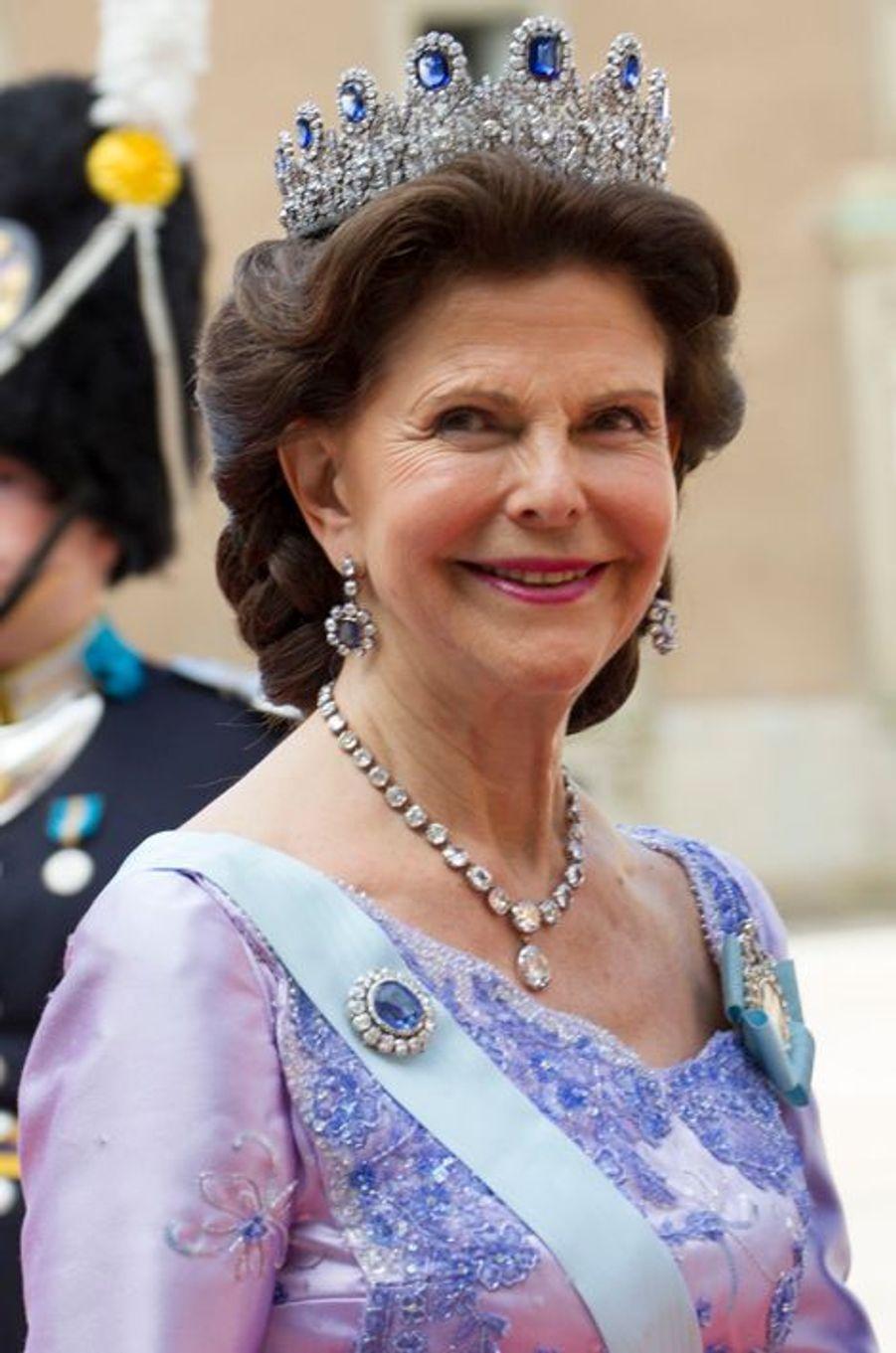 La reine Silvia de Suède à Stockholm, le 13 juin 2015