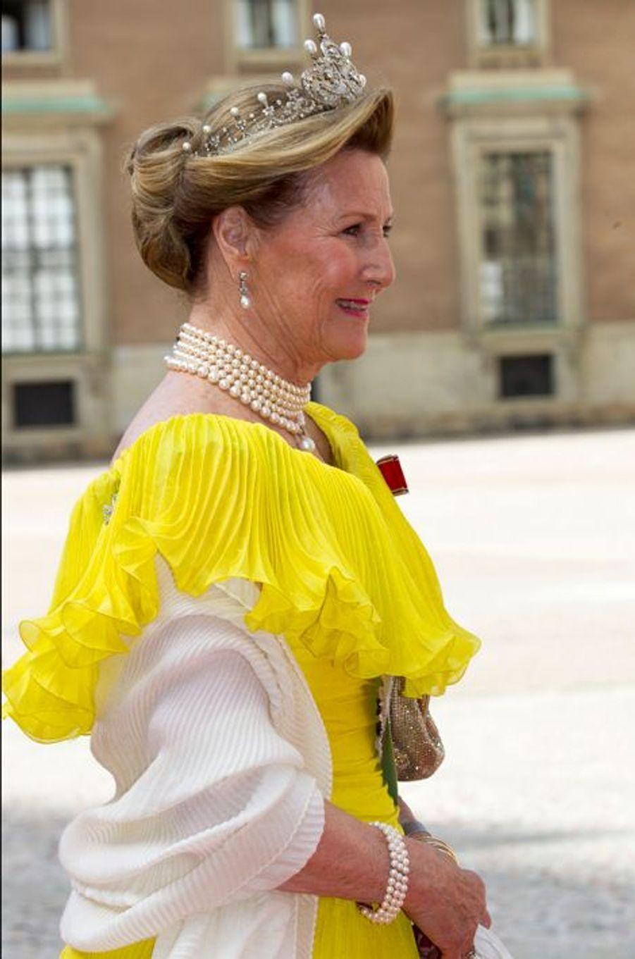 La reine Sonja de Norvège à Stockholm, le 13 juin 2015