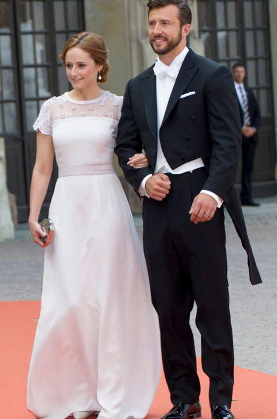 Lina Hellqvist, avec son ami, à Stockholm le 13 juin 2015