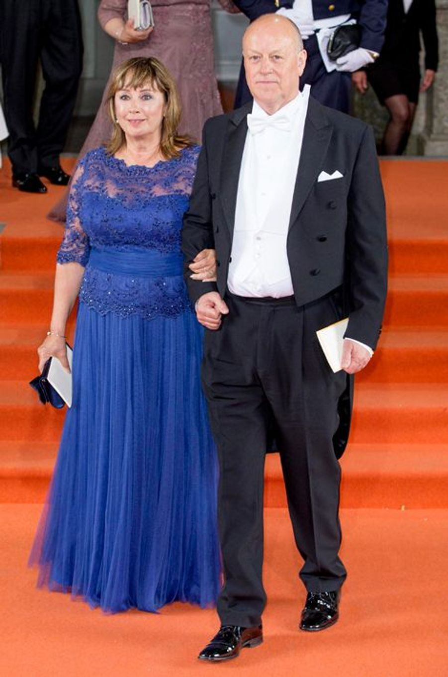 Marie Hallqvist avec son mari Erik à Stockholm, le 13 juin 2015