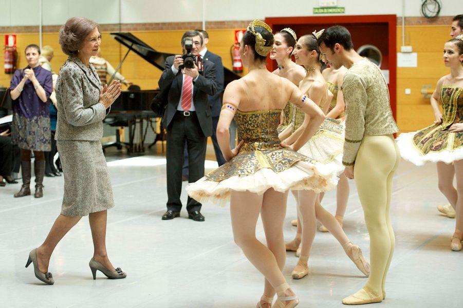 ... a visité le Ballet national d'Espagne à Naves del Matadero, Madrid, lundi.