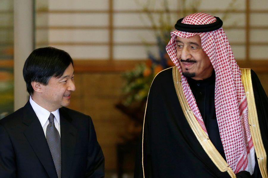... a reçu le prince héritier d'Arabie-Saoudite, Salman bin Abdul Aziz al-Saud, au palais Togu à Tokyo, lundi.