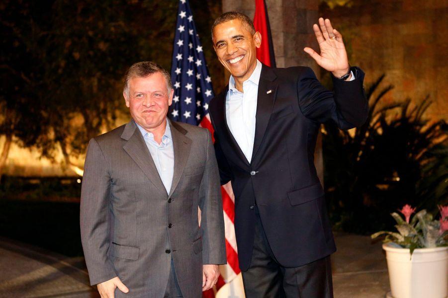 Le roi Abdallah de Jordanie avec Barack Obama