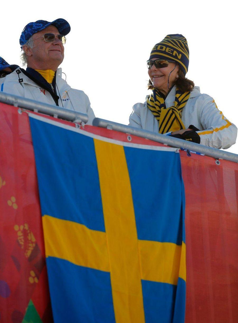 Le roi Carl Gustaf de Suède et Silvia à Sotchi