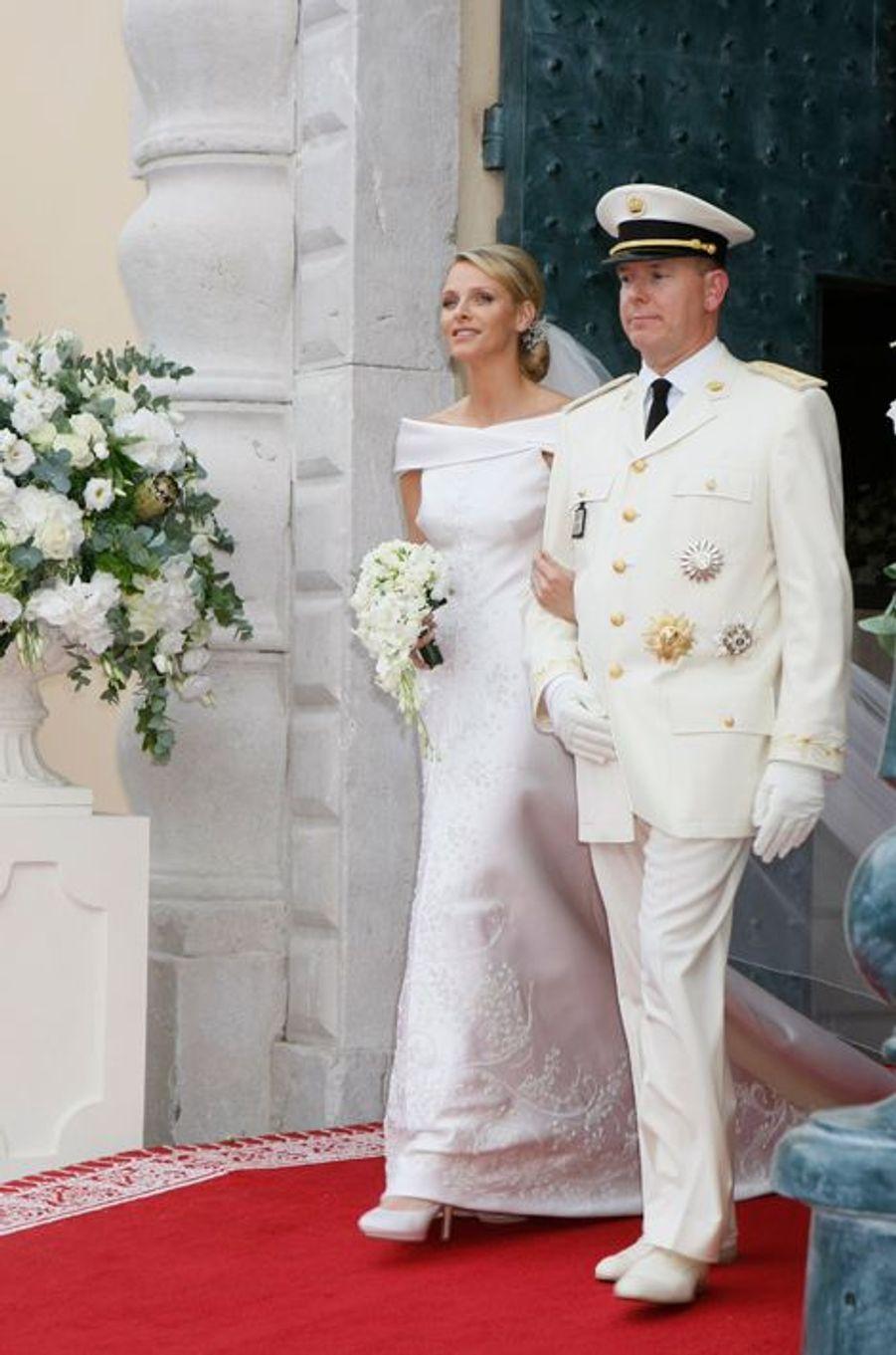 Charlène épouse le prince Albert de Monaco le 2 juillet 2011