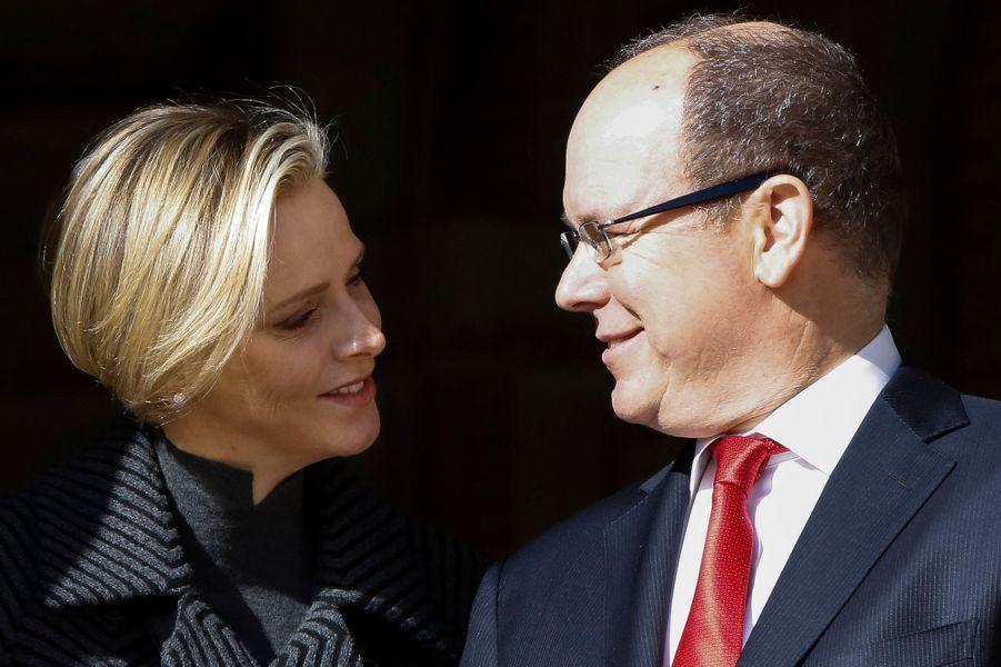 Charlène et Albert, le 26 janvier 2014