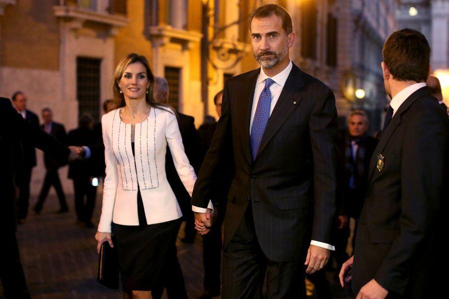 Letizia et Felipe, le 19 novembre 2014