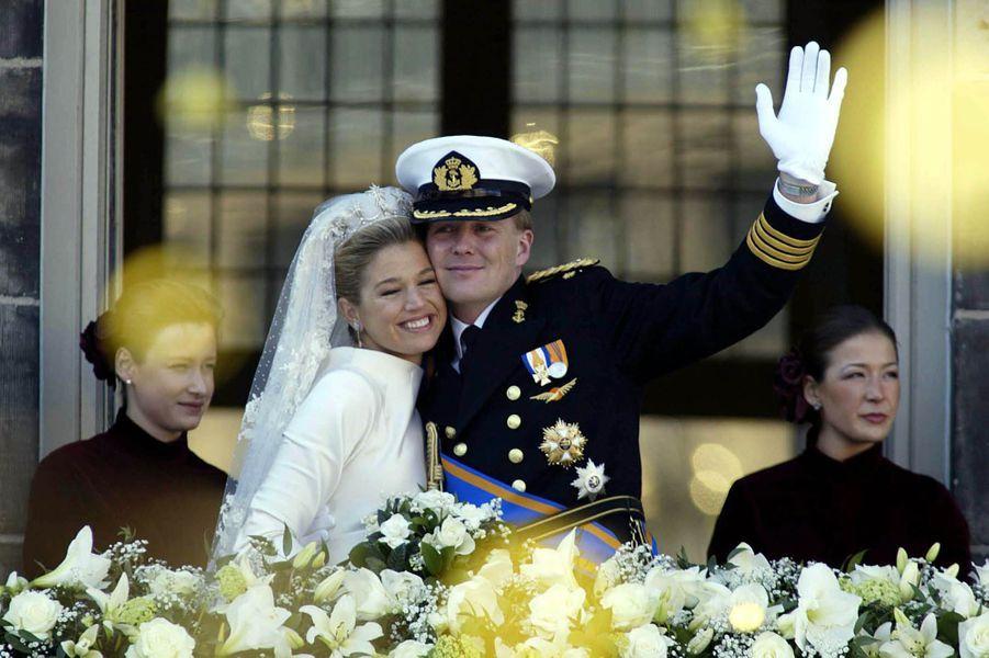 Maxima épouse le prince Willem-Alexander des Pays-Bas le 2 février 2002