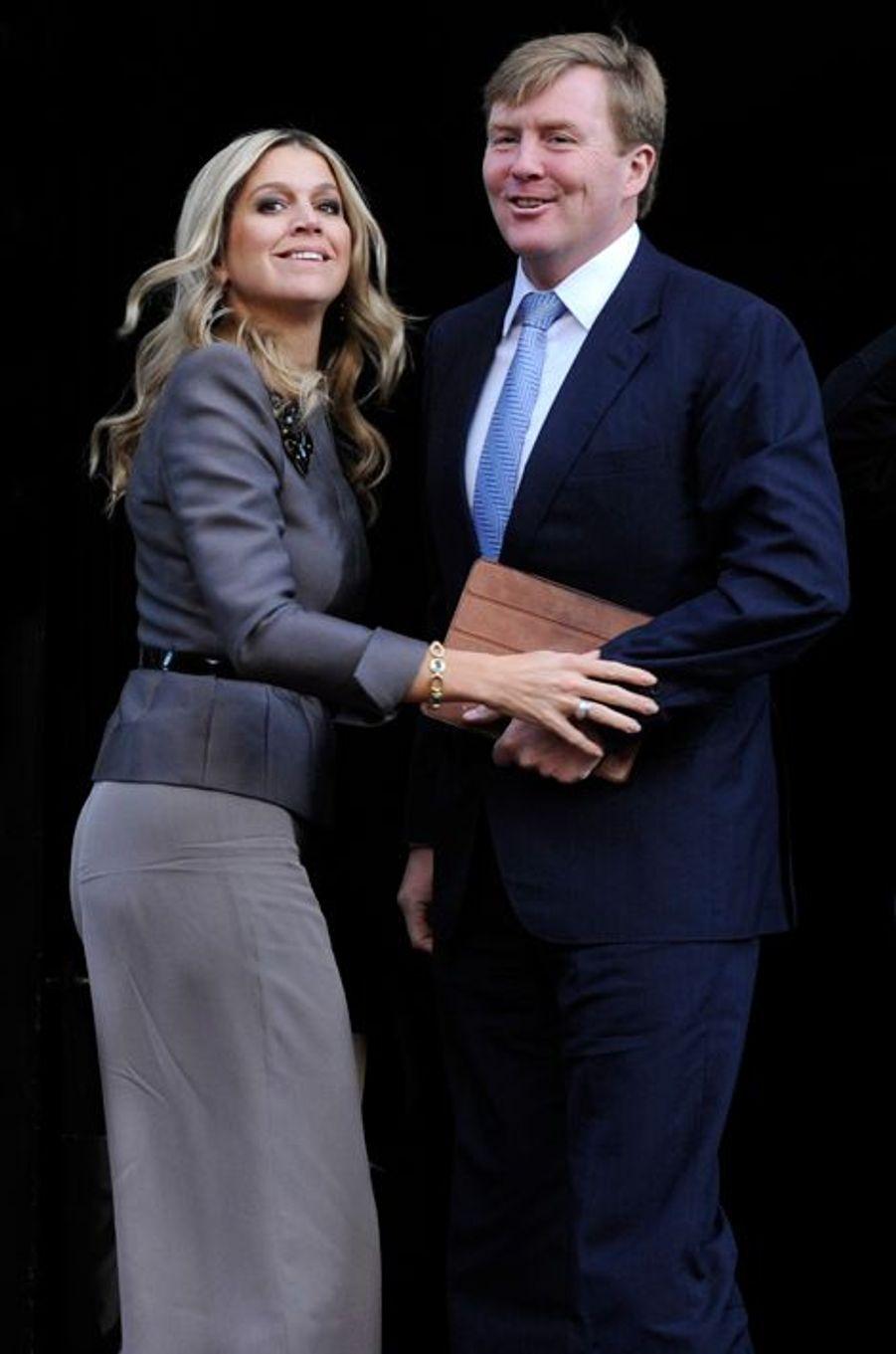 Maxima et Willem-Alexander, le 12 décembre 2012