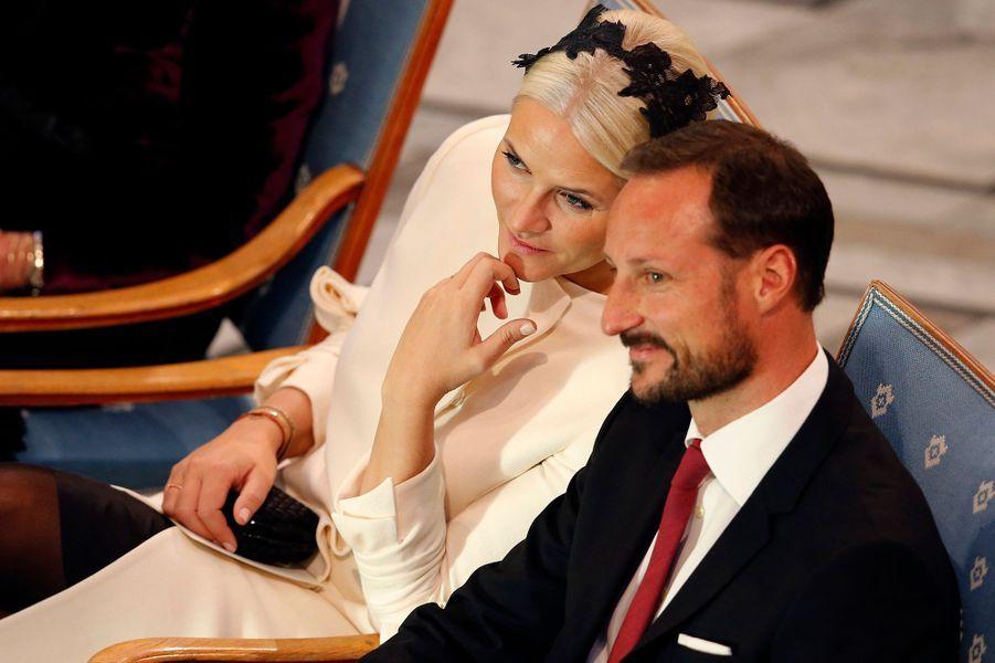 Mette-Marit et Haakon, le 10 décembre 2014