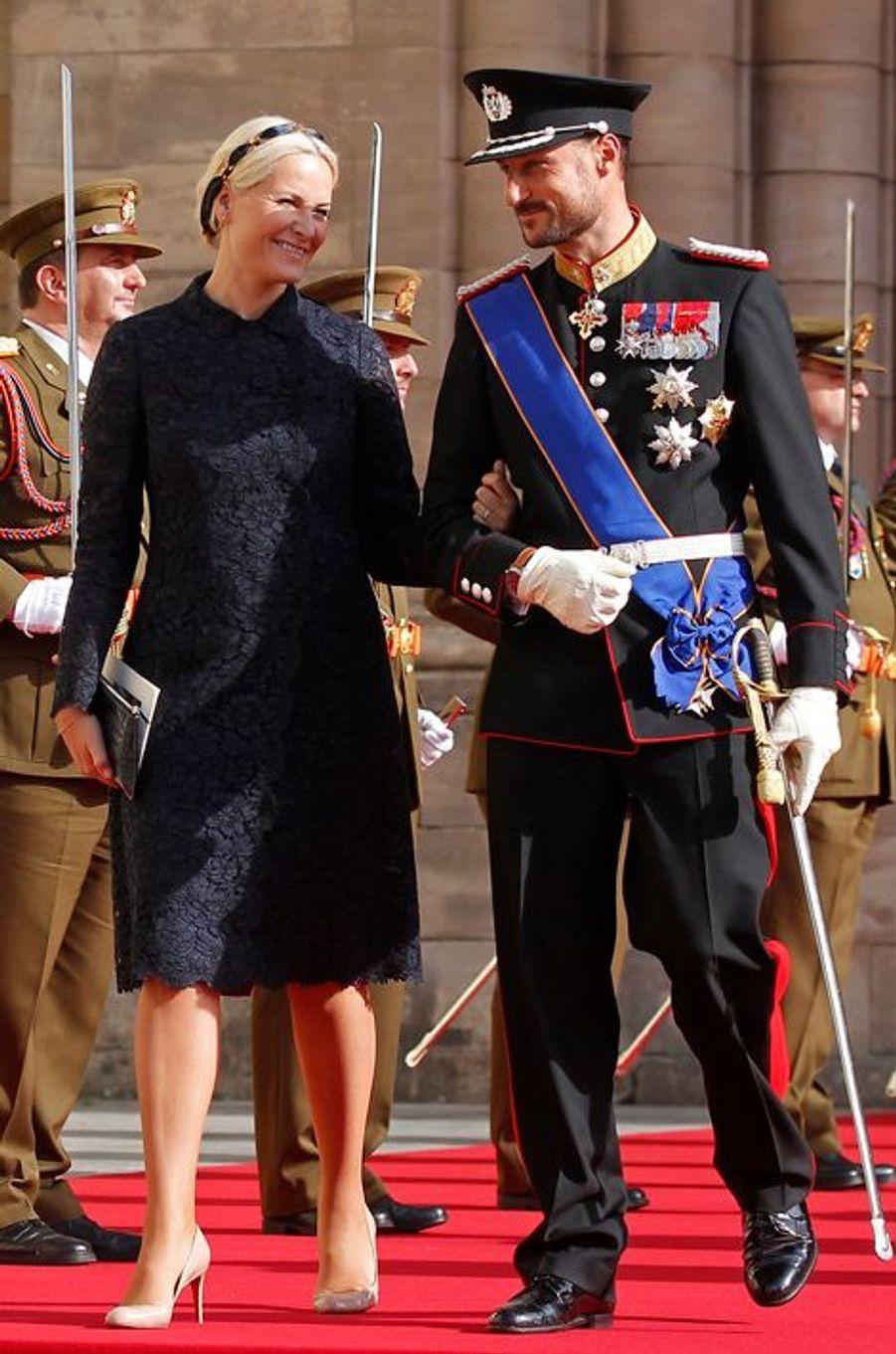 Mette-Marit et Haakon, le 20 octobre 2012
