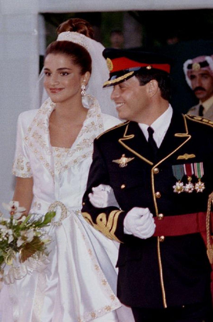 Rania épouse le prince Abdallah de Jordanie le 10 juin 1993