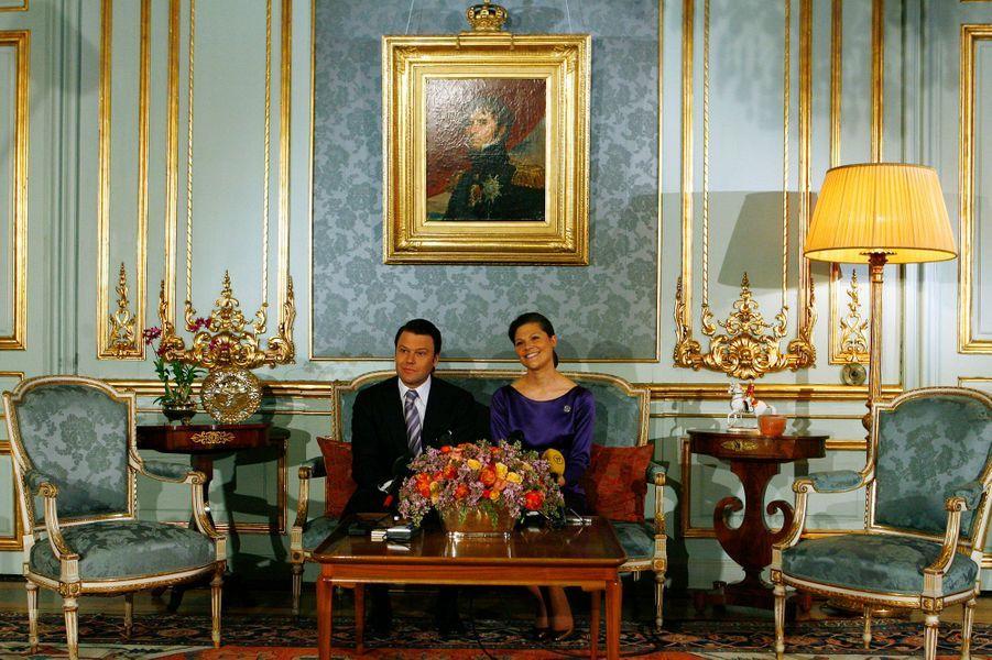 La princesse Victoria de Suède et Daniel Westling, le 24 février 2009