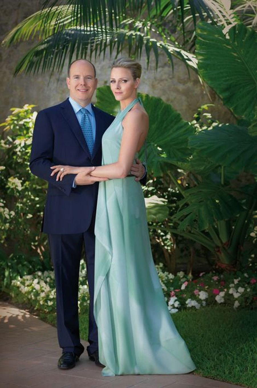Le prince Albert II de Monaco et Charlène Wittstock, le 23 juin 2010