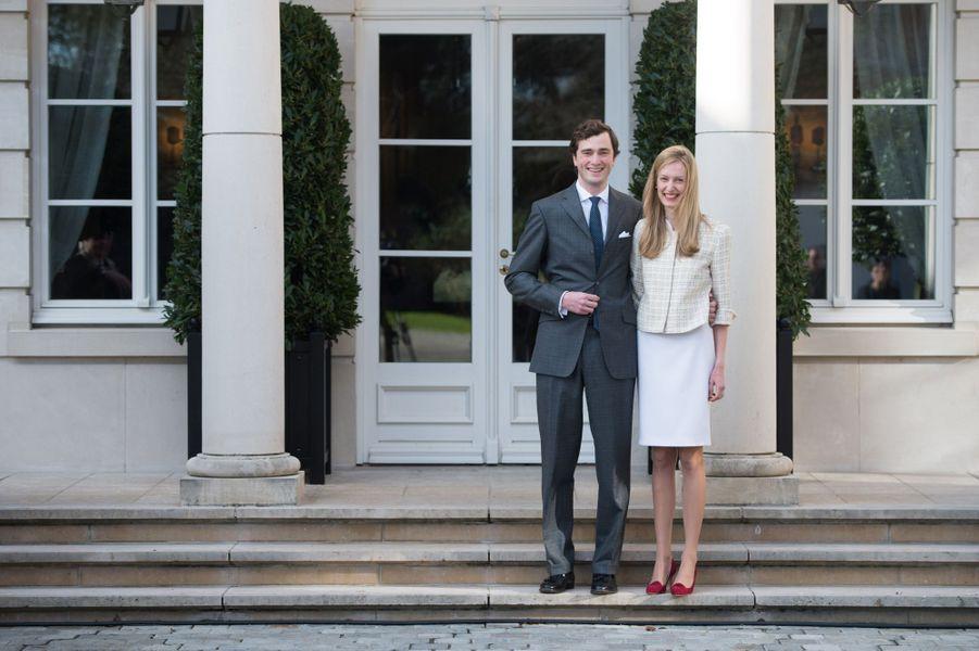 Le prince Amedeo de Belgique et Elisabetta Maria Rosboch von Wolkenstein, le 16 février 2014