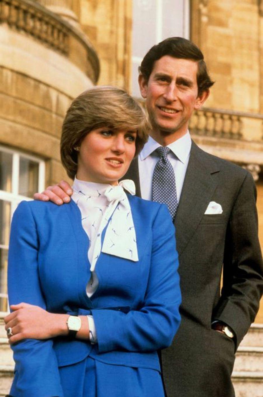 Le prince Charles et Diana Spencer, le 24 février 1981