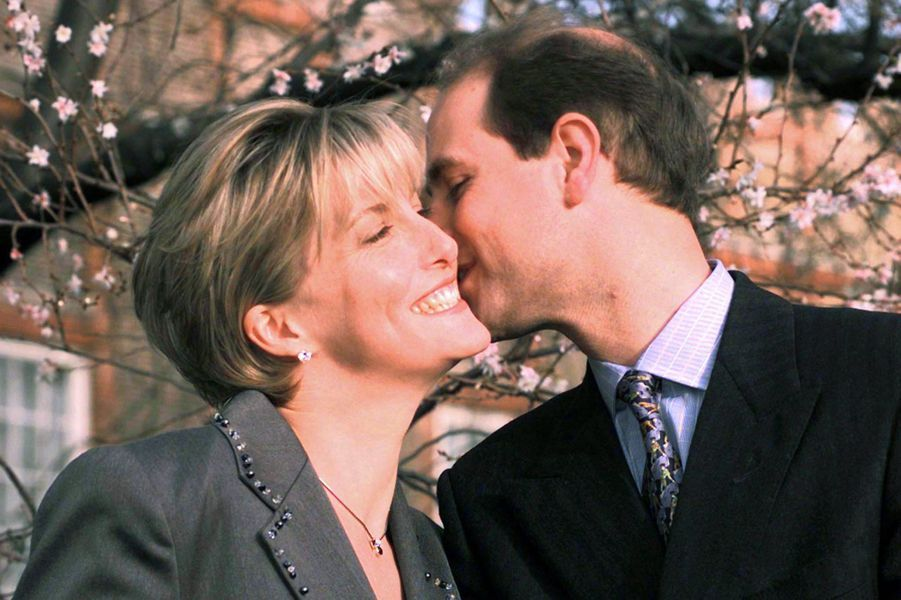 Le prince Edward et Sophie Rhys-Jones, le 6 janvier 1999