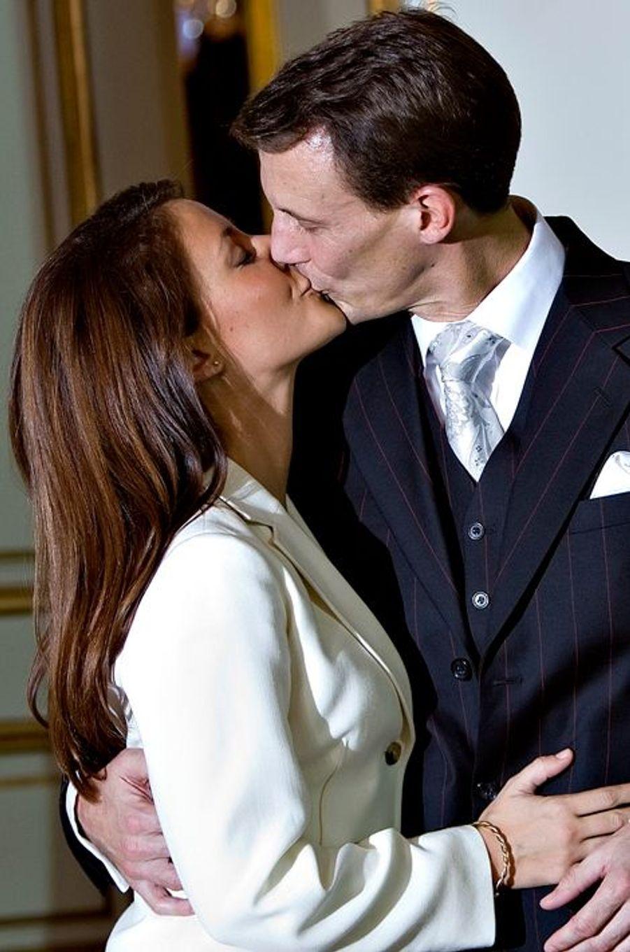 Le prince Joachim de Danemark et Marie Cavallier, le 3 octobre 2007