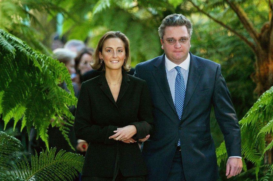 Le prince Laurent de Belgique et Claire Coombs, le 19 décembre 2002