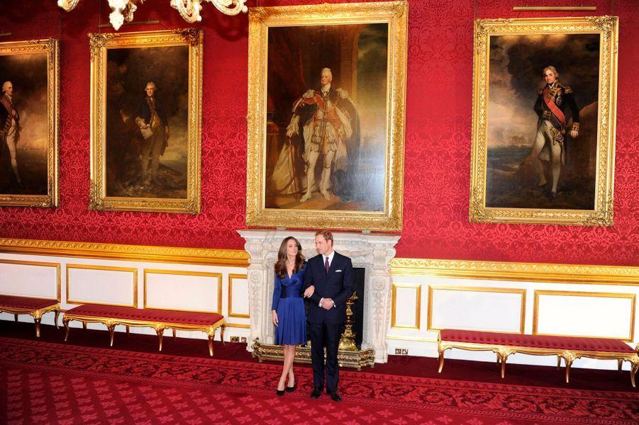 Le prince William et Kate Middleton, le 16 novembre 2010