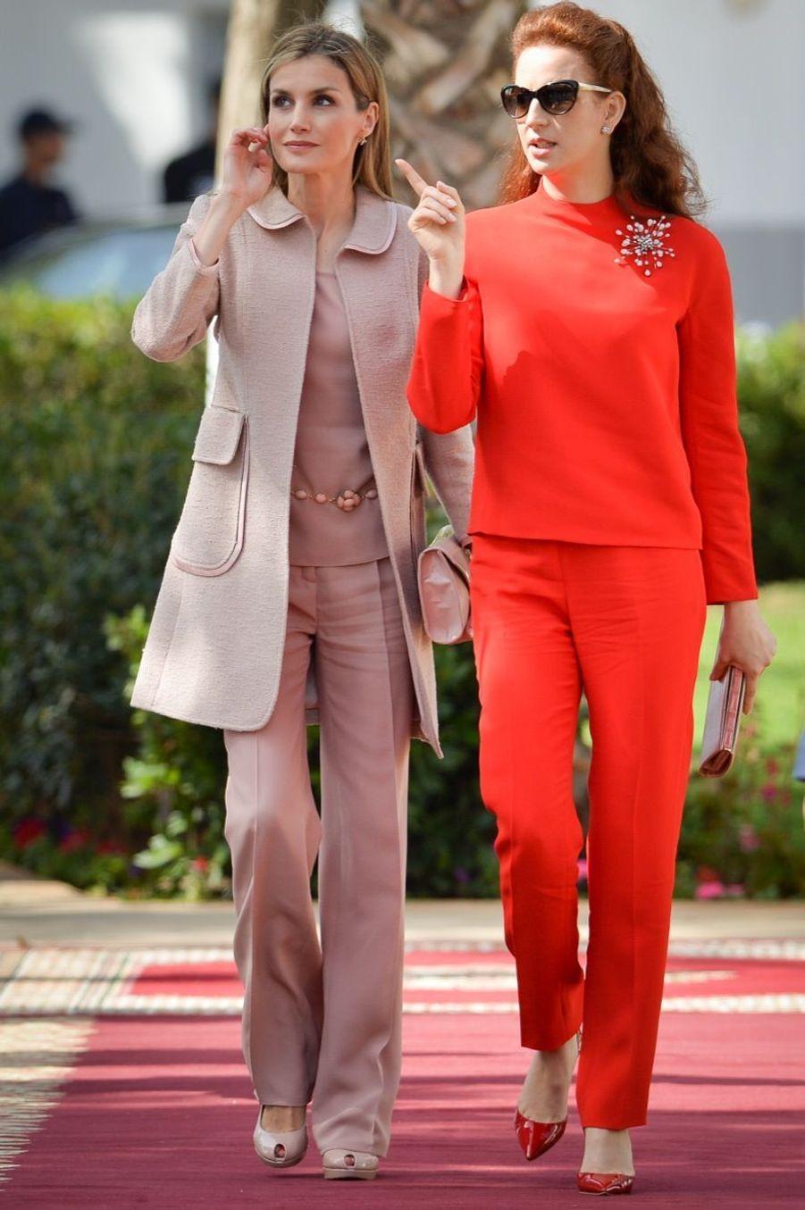 Lalla Salma & Letizia, un charmant duo royal