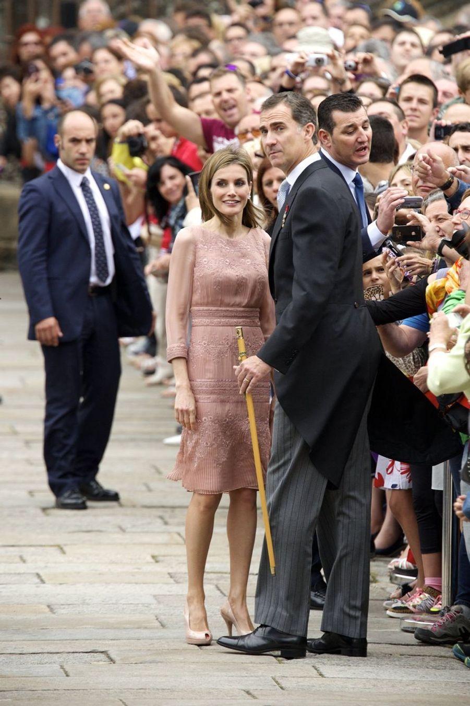 Felipe et Letizia, sur le chemin de Saint-Jacques de Compostelle