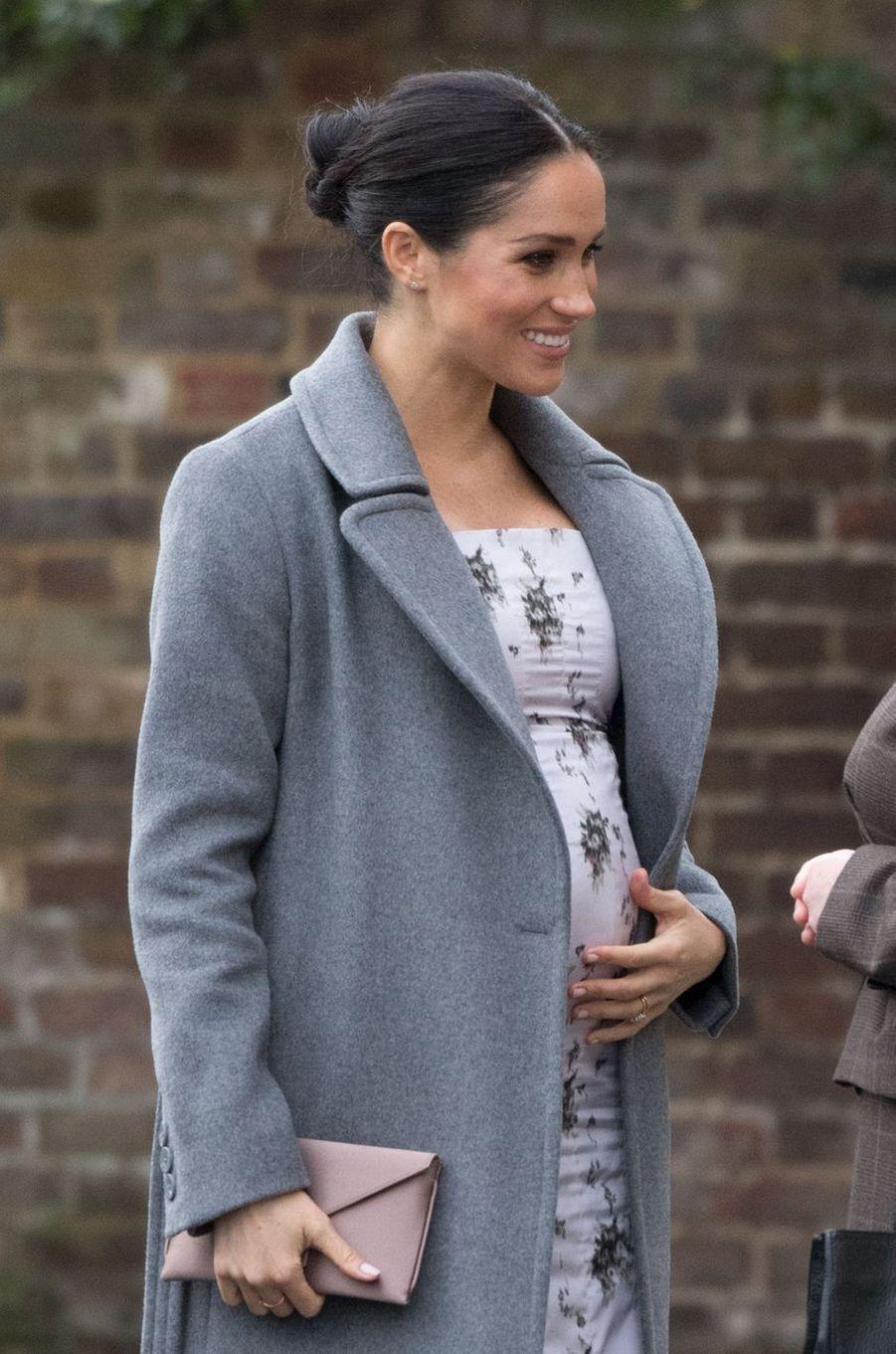 2019 - Meghan Markle, la duchesse de Sussex épouse du prince Harry, doit donner naissance à leur premier enfant