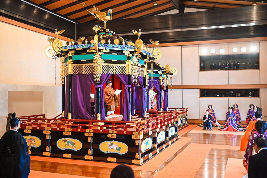 Cérémonie d'intronisation de l'empereur Naruhitu du Japon et de l'impératrice Masako, le 22 octobre 2019
