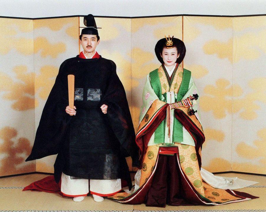 Le prince héritier du Japon Fumihito d'Akishino et Kiko Kawashima (ici le 28 juin 1990) vont fêter en 2020 leurs 30 ans de mariage