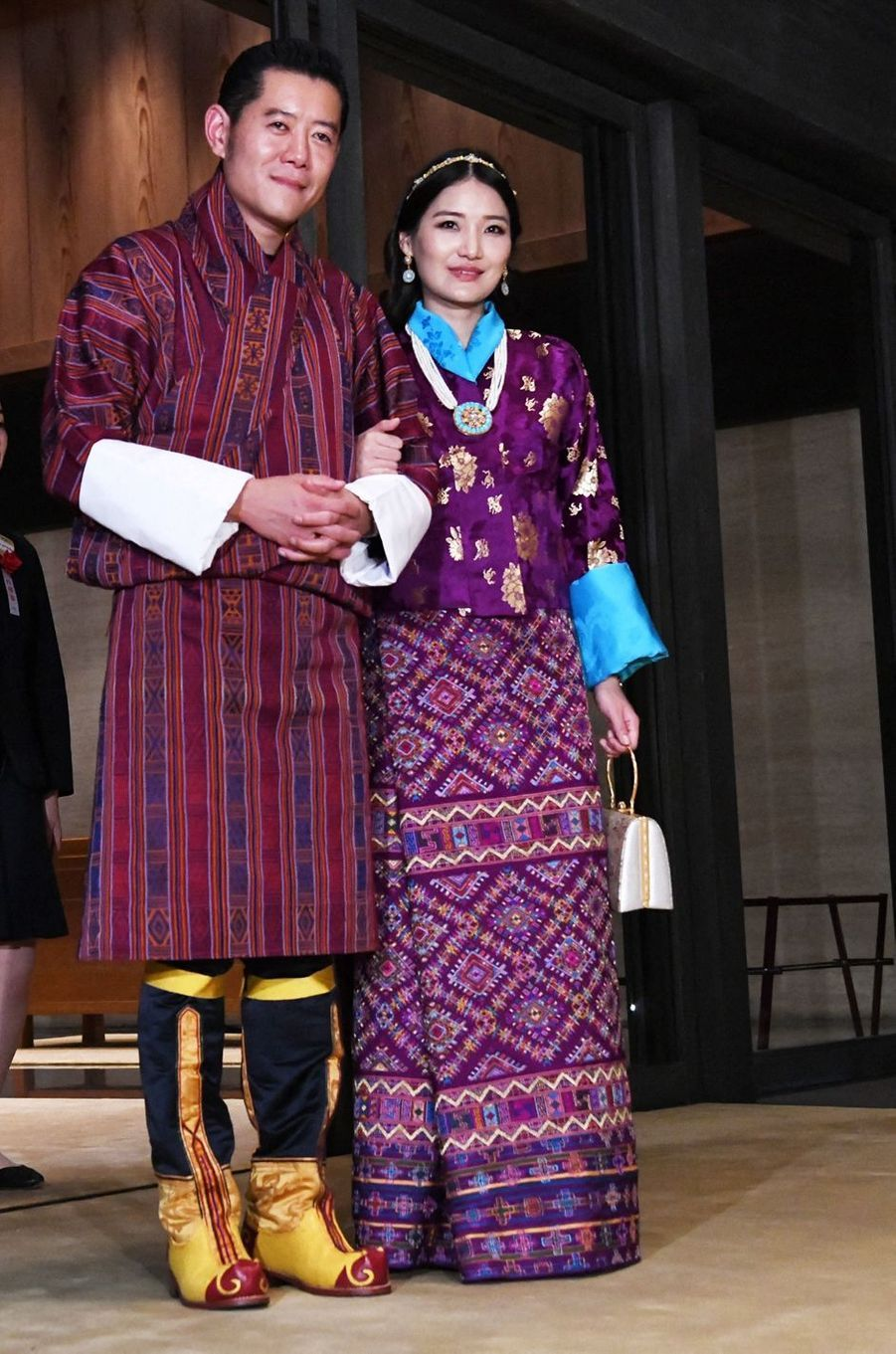 Le roi du Bhoutan Jigme Khesar Namgyel Wangchuck et la reine Jetsun Pema (ici le 22 octobre 2019) attendent leur deuxième enfant pour l'année 2020