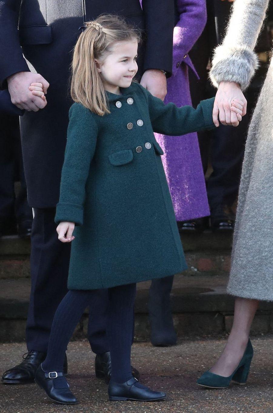 La princesse Charlotte de Cambridge (ici le 25 décembre) va fêter ses 5 ans en 2020