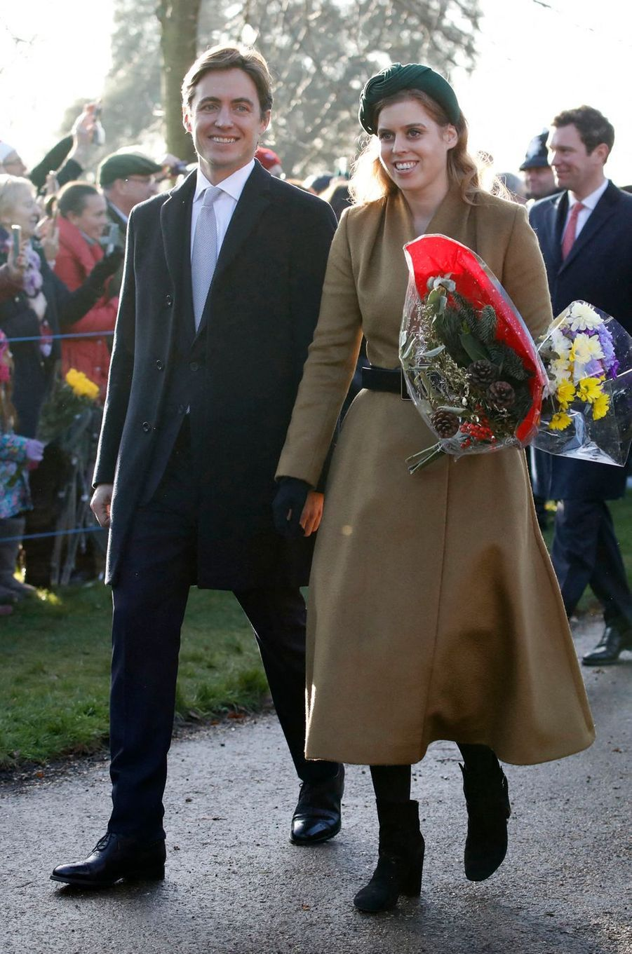 La princesse Beatrice d'York et Edoardo Mapelli-Mozzi (ici le 25 décembre 2019) vont se marier en 2020