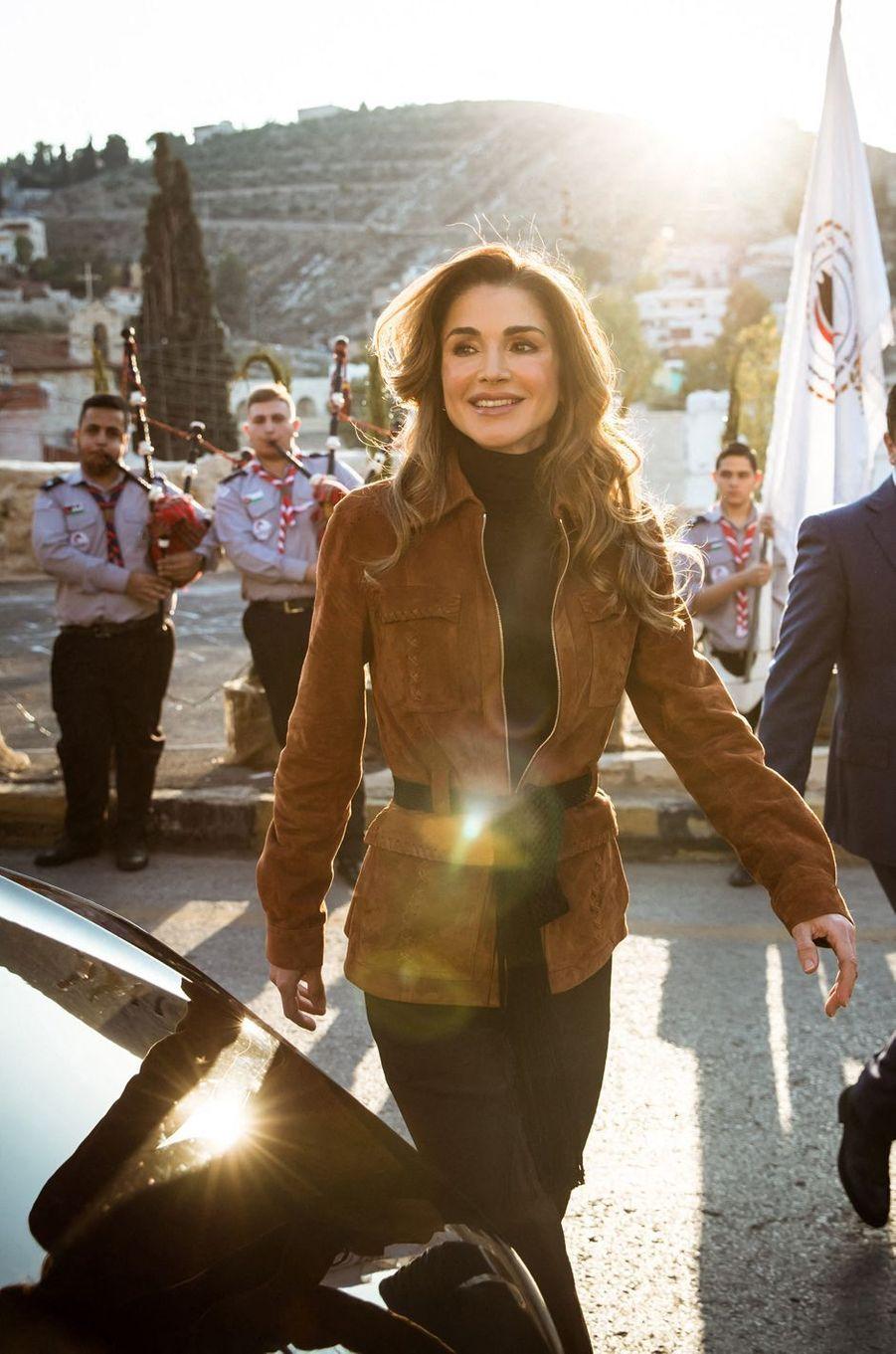 La reine Rania de Jordanie (ici le 18 décembre 2019) va fêter ses 50 ans en 2020
